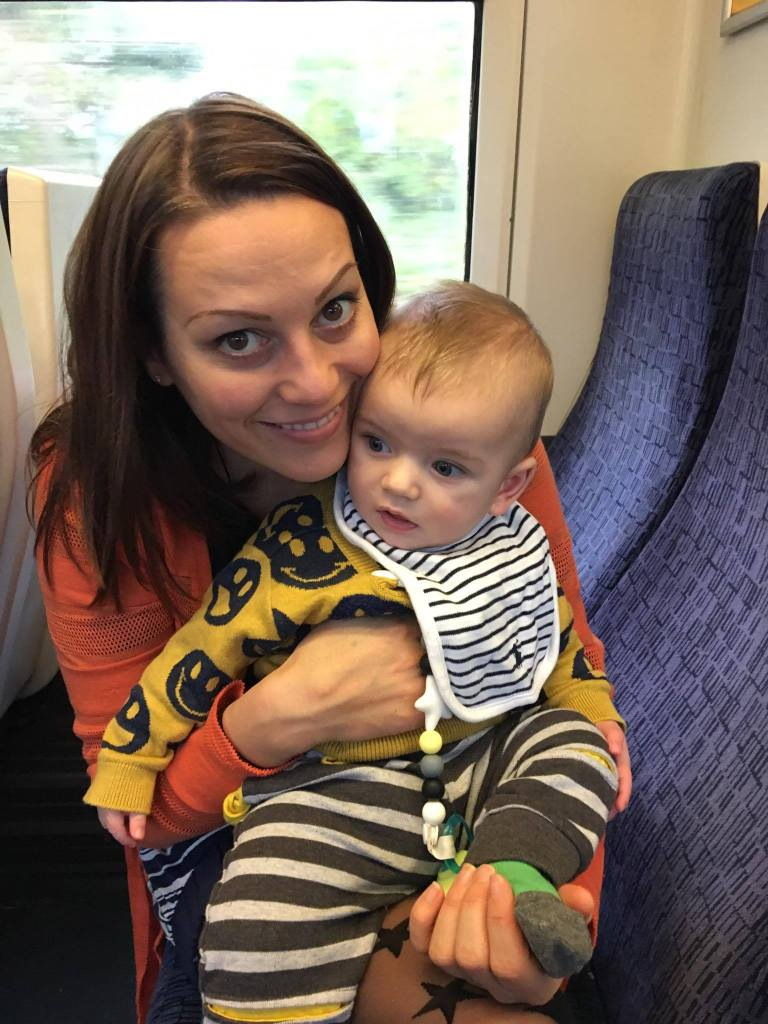 audition mum and L on train